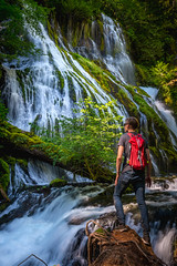 Standing Out (kephart_kyle) Tags: august cliffs climb creek d800 falls landscape nikon panther person repel river summer teague washington waterfall
