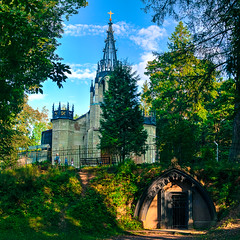 Church of Peter and Paul (Shumilinus) Tags: 2018 35mmf18 landscape nikond300s saintpetersburgrussia summer building church temple park trees sky clouds shadows