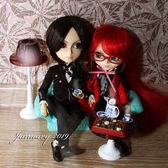 Saint Petersburg, Russian Federation, January 2019. Japanese doll Pullip and Taeyang drinking tea (dollstoys18) Tags: japanese japan doll toy pullip taeyang tea party plastic boy girl artificial childish game play small little funny amusing entertaining cute