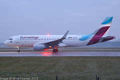 D-AEWV - 2017 build Airbus A3209-214, early morning departure on Runway 23L at Manchester (egcc) Tags: 7545 a320 a320214 airbus daewv egcc ew ewg eurowings lightroom man manchester ringway sharklets