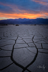 Drought (wilson_ng) Tags: wilsonngphotography wilsonphoto landscape nature nationalpark deathvalley california dry mud crack flat lakebed dried epicsky sunrise sunset color tiles desert licensed drought