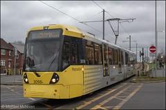 Manchester Metrolink 3098 (Mike McNiven) Tags: manchester metrolink tram metro lightrail lrv wythenshawe baguley hollyhedgeroad wendonroad manchesterairport airport marketstreet