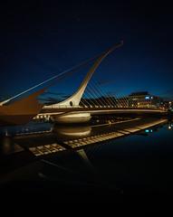 Irland, Dublin, Samuel Beckett Bridge (FV1405) Tags: 2018 blauestunde dublin irland brücke
