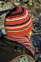 Random stripes (Winterbound) Tags: knitting handknitted handmade hat