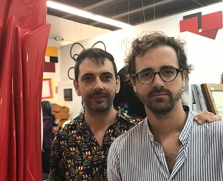 Curator Roc Laseca and Tourism in Canary Islands' expert partner Luis Fumero