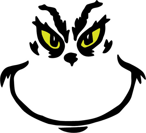 It is a picture of Canny Free Printable Grinch Face Template