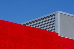 Red and grey building (Jan van der Wolf) Tags: map191226vve red rood grey grijs building gevel gebouw lines lijnen lijnenspel interplayoflines geometric geometry geometrisch geometrie