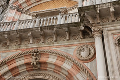 Palazzo Ducale ornaments (srkirad) Tags: travel venice italy columns ornaments colorful statue architecture cloudy landmark palazzoducale palace ducale palazzo