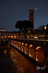 Mantova - Italy (Biagio ( Ricordi )) Tags: mantova italy città notturno fiume luna love amore rigoletto opera lirica crepuscolo alberi acqua volti archi