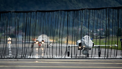 Three Tigers behind the barrier (PH-OTO) Tags: air aircraft airline airlines airplane airport avgeek aviation aviationdaily aviationgeek avporn canon civil eos fighter fighterjet flight fly force general helicopter jet military photo photography photos pilot plane planespotting private sky spotting f5e f5 tiger swiss meiringen barrier runway unterbach base flugplatz haslital berner oberland militärflugplatz