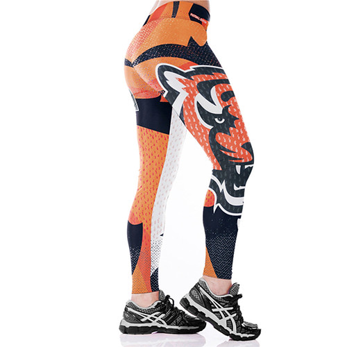 Women Leggings Cincinnati Bengals Sport Print Running Active Sportswear High Waist Pant Sexy Slim Hip Fitness Jogger Gym