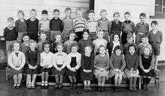 School photo (theirhistory) Tags: boy child kid girl school class form pupils dress skirt jumper trousers shoes wellies wellingtons