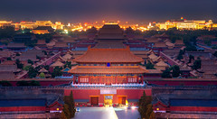 The Forbidden Palace (anekphoto) Tags: beijing forbidden city china palace imperial night red ancient travel landmark architecture chinese destination view traditional peking asian asia historic tourist scenery famous attraction gate beautiful sky old building emperor dynasty tourism history religion east historical roof temple heritage museum unesco empire blue sunrise background yellow culture landscape scene place