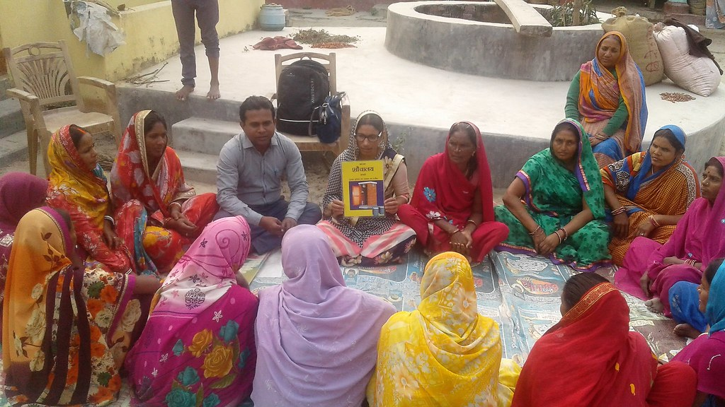Village group meeting in Samastipur region