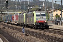 BLS Re 486 502 + 486 504 Liestal (daveymills37886) Tags: bls re 486 502 504 liestal baureihe cargo traxx bombardier