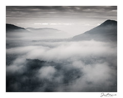 Keswick Mono (jholls84) Tags: keswick mist inversion cloud temperatureinversion bassenthwaite skiddaw cumbria fell monochrome atmosphere