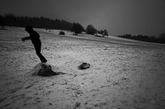 Falling down (stefankamert) Tags: fallingdown winter snow grass people grain noir blackandwhite blackwhite landscape trees mood tones noiretblanc white bw baw ricoh gr grii ricohgr 28mm