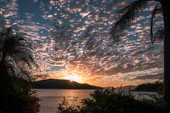 evening cloud shower (Rafael Zenon Wagner) Tags: sonneuntergang korallenmeer wolken himmel tropisch palme licht nikon d810 28mm sunset coralsea clouds sky tropical palm light