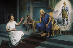 Daniel interprets King Nebuchadnezzar's dream and earns his good graces (Daniel 2:19 - 2:49) (bibleblender) Tags: bronze clay danielbookof dreams gold iron nebuchadnezzar silver