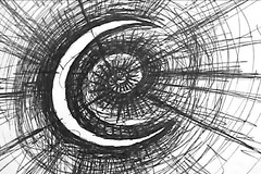 Moon (Skyler Brown Art) Tags: animation art artwork bw blackwhite blackandwhite creepy dark drawing gothic ink moon paper pen skylerbrown