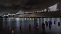Bay Bridge from Pier 14 (mjhedge) Tags: baybridge pier14 embarcadero sanfrancisco night nightscape bridge longexposure water sony sonyalpha a7riii fe1635mmf28gm 1635mm