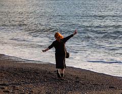 M. dancing the sand away (purrnuu) Tags: aberystwyth wales unitedkingdom gb