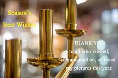 Season's Greetings (OzzRod) Tags: pentax k1 industar61lzmc50mmf28macro индустар61лз greetings salutation thankyou christmas candlesticks bokeh