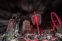 Fun flare (Paul Wrights Reserved) Tags: london londoneye building buildings fairground longexposure fair sky skyscape night nightphotography light lighttrails