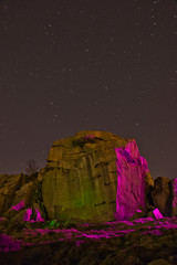 _0PC8227CF (pcartermiet) Tags: rocks lightpainting night landscape outdoors cowandcalf ilkley nikon d810 quarry rock stars sky