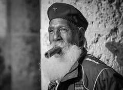 Big is better (frank.gronau) Tags: smile lächeln uniform bart zigarre old mann man cuba kuba havana havanna alpha sony gronau frank
