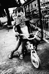 Playing Bicycle (Meljoe San Diego) Tags: meljoesandiego fuji fujifilm x100f streetphotography bike children candid monochrome philippines
