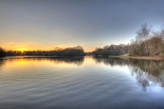 Hollows Sunset 1 (ArtGordon1) Tags: london england uk winter january 2019 davegordon davidgordon daveartgordon davidagordon daveagordon artgordon1 sunset reflections reflection hollowpond hollowponds water pond lake