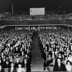 Audience seated inside the Tivoli Theatre at Rockhampton, Queensland, 1930 thumbnail