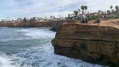 Surfers at Sunset Cliffs in San Diego, California (January 20, 2019) (lhboudreau) Tags: surf surfing surfers surfer cliffs cliff rocky rock sandstone outdoors outdoor shoreline landscape seacoast sea waves wave shore ocean pacificocean pacific waterfront water coastal coast pointloma sandiego california sunsetcliffs sunsetcliffsnaturalpark park sport watersport video videos palm palms palmtree palmtrees tree trees home house homes houses