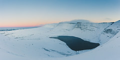 Snowy Sunset (JHJOwen) Tags: llynyfanfach mountain brecon snow