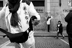 (Serendipity) (Robbie McIntosh) Tags: leicam9p leica m9p rangefinder streetphotography 35mm leicam autaut candid strangers leicaelmarit28mmf28iii elmarit28mmf28iii elmarit 28mm blackandwhite chinesenewyear chinese yearofthepig napoli naples