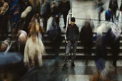Life in Istanbul (bilgehanbilge) Tags: peoples crowd city şehir kalabalık insanlar motion alone yalnız life hayat yalnızlık lonely