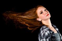 Hair (ClintHeeeerod) Tags: womangirlmodelladyyoungglamourheadshotsexynikond750 hair yongnuo ginger speedlight speedlite 85mm diy studio portrait