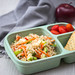 Rice Salad wiht Tomatoe and Cracker in a Bento Box