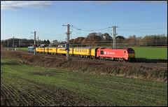 Golborne Junction, DB 67018 'Keith Heller' (06.15 Derby RTC - Mossend Down Yard) 13/11/18. (DigitAL46232) Tags: golbornejunction db dbc 67018 67003 derbyrtc