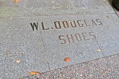 W.L. Douglas Shoes, Eureka, CA (Robby Virus) Tags: eureka california ca brass inlay sidewalk cement concrete pavement wl douglas shoe co company shoes store floor