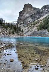 The Tower of Babel at Moraine Lake in Banff National Park (PhotosToArtByMike) Tags: morainelake banff banffnationalpark towerofbabel valleyofthetenpeaks canadianrockies albertacanada mountain mountains emeraldlake bluegreen turquoisecoloredwater