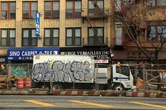 post em ks (Luna Park) Tags: ny nyc newyork graffiti truck lunapark post poster vsop em emone ks kser kingsolomon irak