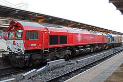 Crossrail Benelux PB13 (Sam Pedley) Tags: pb13 66998 crossrail crossrailbenelux class66 derbystation generalmotors gm electromotivediesel emd jt42cwr 928012660181dbrll railoperationsgroup rog 37601 perseus class37 locomotive dieselloco loco diesellocomotive vehicle train railway railroad