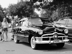 Fine Fifty Ford (novice09) Tags: backtothefifties carshow ford 50 whitewalls blackandwhite monochrome ipiccy