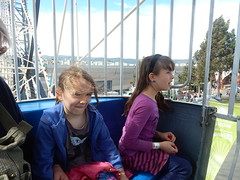 Girls in Ferris Wheel (mikecogh) Tags: wayville show ferriswheel pod river matilda height granddaughters