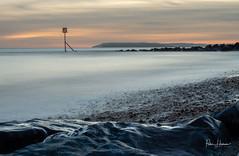 Sunset Calm (Peter H 01) Tags: hayling fineart seadefences rocks beach golden evening calm longexposure