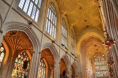 Bath Abbey, Bath - the interior (Baz Richardson) Tags: somerset bath bathabbey nave vaultedceilings stainedglass englandsthousandbestchurches