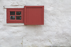 Red Window (foregorp) Tags: clinton newjersey nj fall window wall lines pane red white abstract