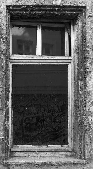 Spuren auf Glas
